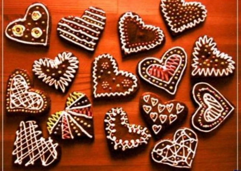 Узоры из печенья